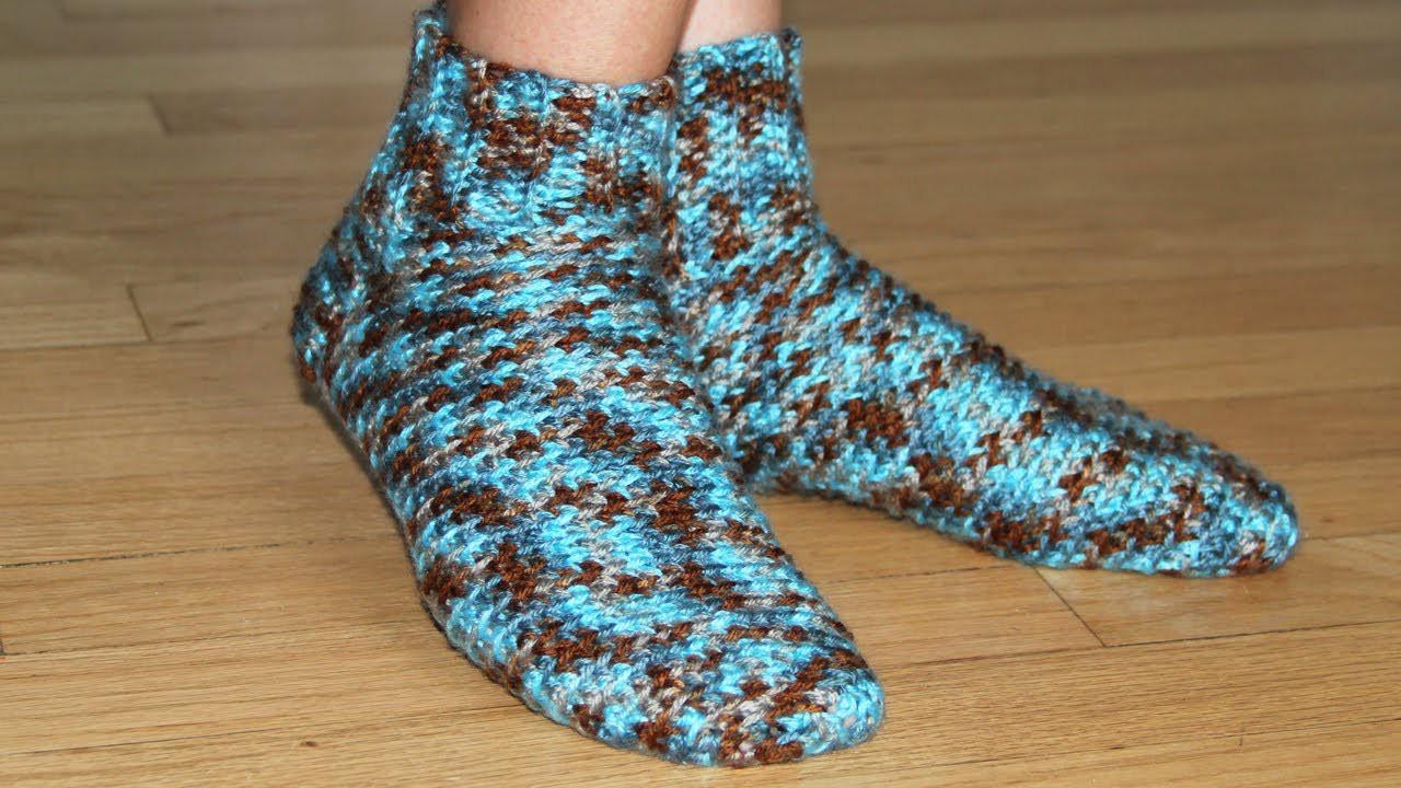 How to crochet socks - video tutorial for beginners