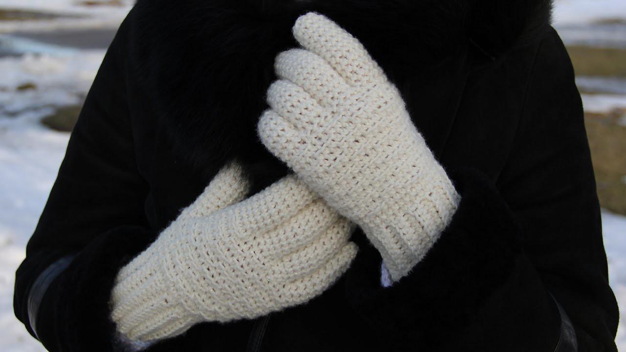 How to crochet women's gloves - video tutorial for beginners