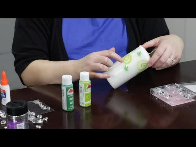 How to Decorate Candles With Gems & Paint : Craft Projects With Paint
