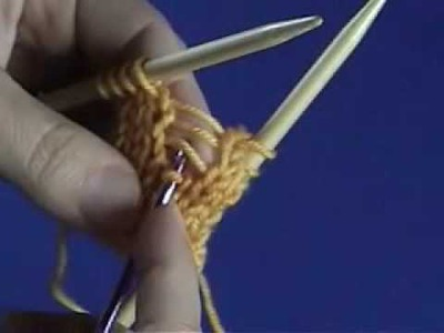 How to fix a dropped stitch in knitting