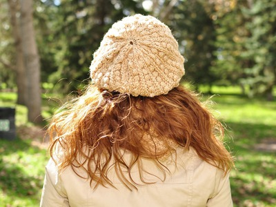 How to knit a beret with straight needles -  Free Knitting Patterns Tutorials