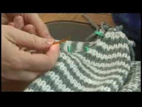How to Knit a Sweater : Knitting a Sweater: Joining Sleeves