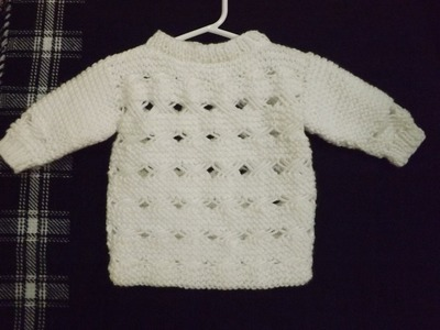 How to Knit Baby Sweater Part 1 of 2
