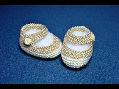 How to Knit Basic Mary Jane Baby Booties Part 1 (Less Seaming and Knit in the round)
