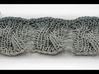 How to knit * Cable with drop stitches * Knitting stitch * reversible knitting stitch