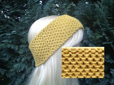 How to Knit Earwarmers. Headband Pattern #6 │by ThePatterfamily