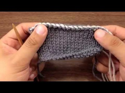 How to Knit Elizabeth Zimmerman's Sewn Bind Off