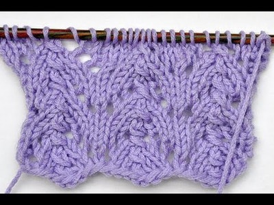 "How to Knit * Lace Stitch ""Small Gothic Arcs"""