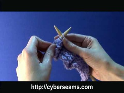 How to Knit Left Handed - the Purl Stitch