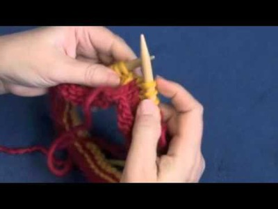 How to Knit Smooth Jogless Stripes in the Round