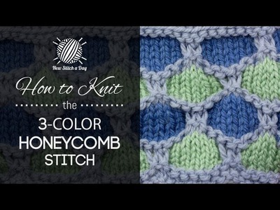 How to Knit the 3 Color Honeycomb Stitch