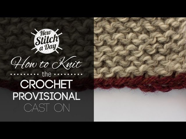 How to Knit the Crochet Provisional Cast On