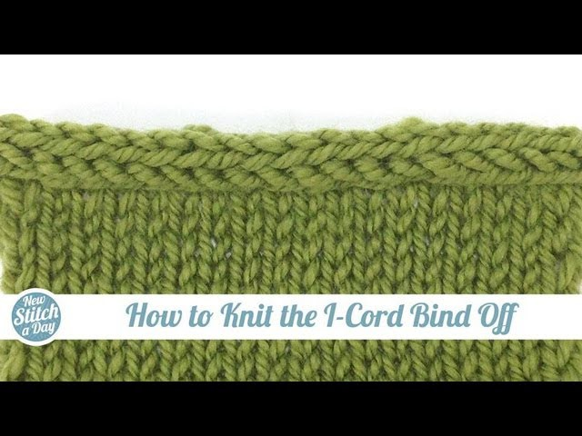 How to Knit the I-Cord Bind Off