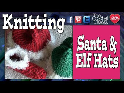How To Loom Knit Elf & Santa Hats For Babies