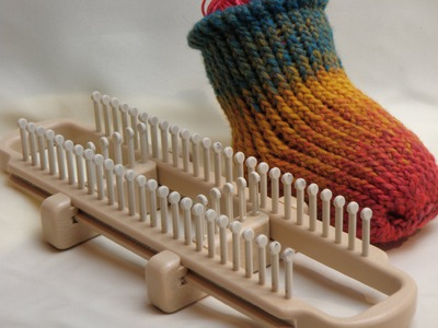 How To Loom Knit Socks on a Sock Loom