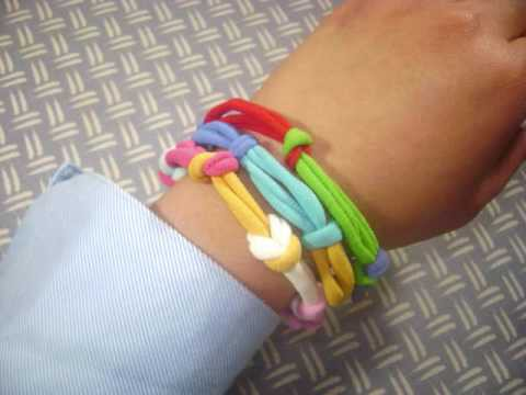 How to make a bracelet from hair elastics - EP