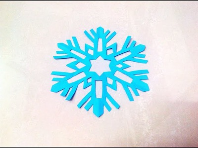 How to make a kirigami paper snowflake - 2 | Kirigami. Paper Cutting Craft, Videos and Tutorials.