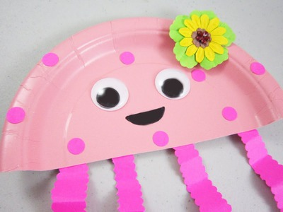 How to make a paper plate jelly fish - EP