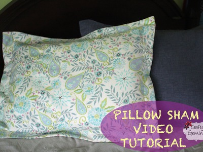 How to make a Pillow Sham- DIY Tutorial & Giveaway