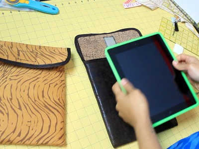 How to Make an iPad or Tablet Sleeve- DIY Tutorial