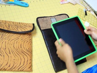 How to Make an iPad or Tablet Sleeve- DIY Tutorial