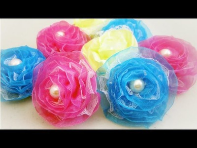 How to make organza ribbon roses - EP