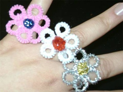How to make pipecleaner flower rings - EP