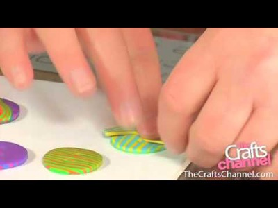 How to make stripy fimo buttons
