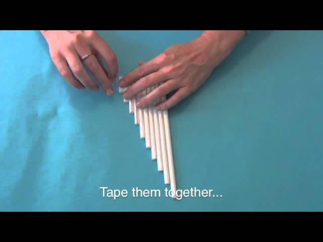 How to make your own pan flute out of straws