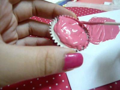 ♥黏土杯型蛋糕教學♥~♥How to make a craft cup cake♥