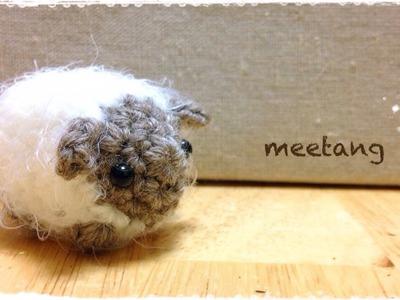 ひつじ(あみぐるみ)の編み方 How to crochet a sheep