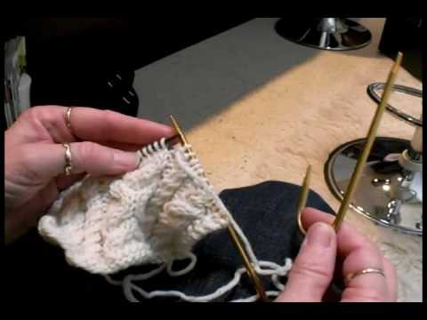 Irish Cable Knitting - How to Knit a Cable Stitch