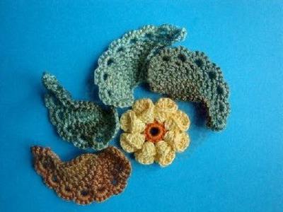 Как вязать листик крючком Урок 293 How to crochet leaf