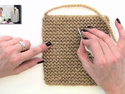 Knitting Help - Weaving in Ends in Garter Stitch