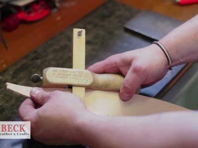 Leather Craft Training #5 - Cutting & Edging a Belt - Basic Skills HD