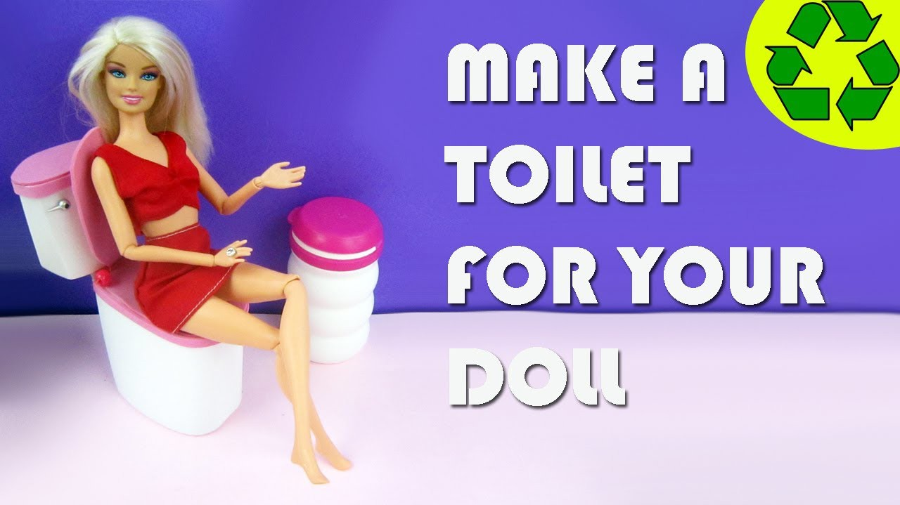 Make a doll toilet - Doll Crafts