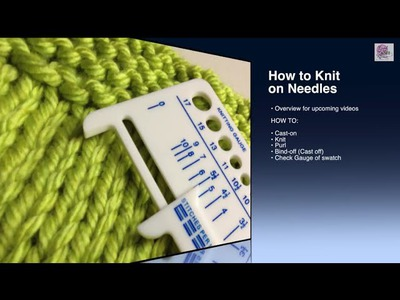 Make a Swatch - Knit a Gauge swatch or measure knitting gauge (CC)