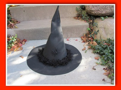 Make a Witch Hat Craft Tutorial
