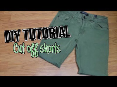 Men's Fashion: Cut Off Denim Shorts | DIY TUTORIAL