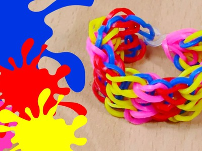 NEW Waterfall Rainbow Loom Bracelet DIY Tutorial | How To Make an Easy Waterfall Loom Band