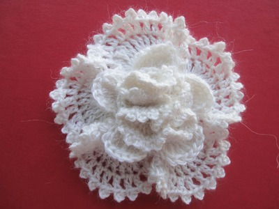 Объёмный цветок The volumetric Flower Crochet