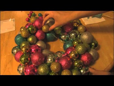 ORNAMENT WREATH - How To - Christmas Craft - Holiday DIY