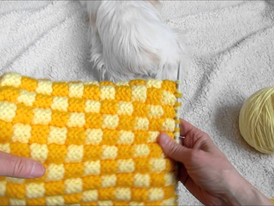 Pantoufles modèle grains de maïs tutoriel Slippers knitting tutorial
