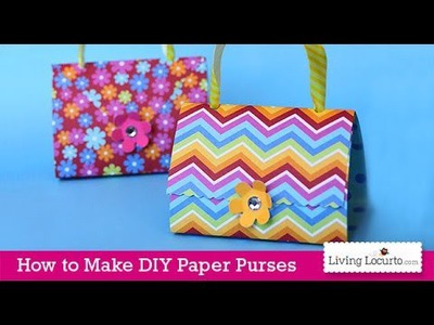 Paper Purse Craft Tutorial | Easy Party Favors | Kids Activity