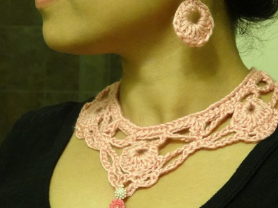 Part 1: How to crochet necklace and earring