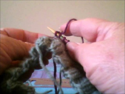 Part 3 - How to knit a hat using Knit 2, Purl 2 ribbing on circular needles
