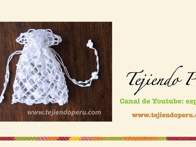 Paso a paso: bolsita para Primera comunión tejida a crochet (punto red de flores margaritas)