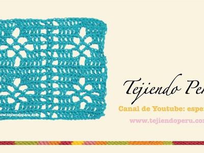 Punto fantasía tejido en crochet # 3 (Parte 2)