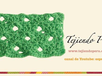 Punto fantasía en crochet # 23: con piñas de 2 varetas