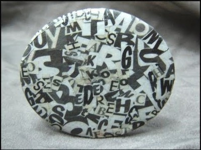 ► Recycled Cardboard Pendant - Craft Tutorial 7 ( Ransom Letter Necklace )